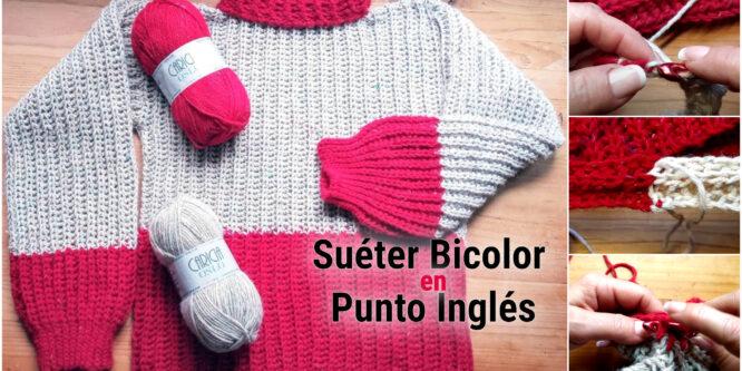 Como tejer Suéter con punto Inglés a Crochet