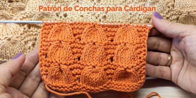 Magnífico Patrón para Cárdigan de Concha