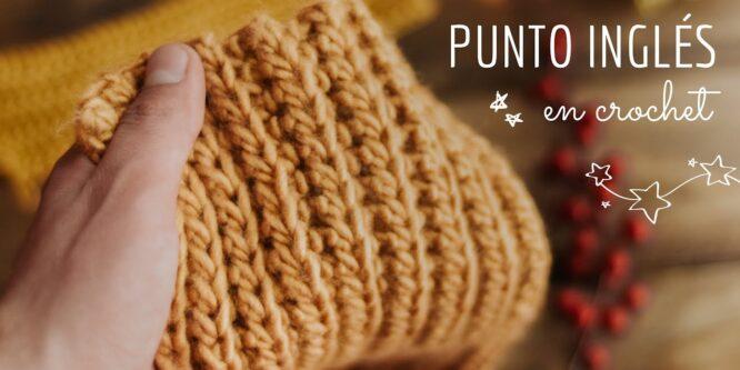 Punto inglés en crochet Parece dos agujas